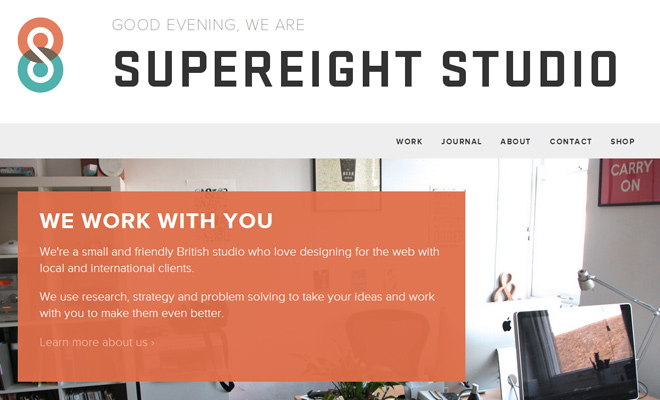 supereight studio creative agency website design