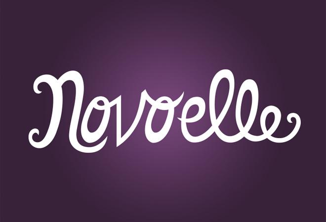 novoelle logo design progress script