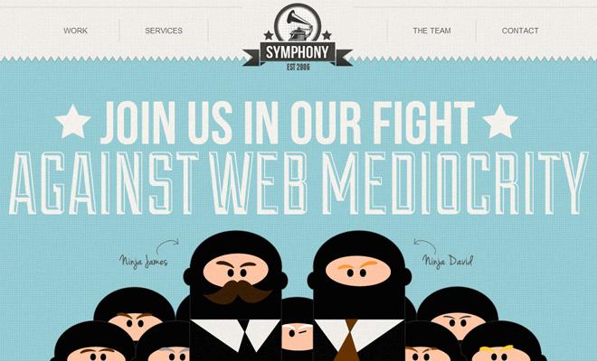 symphony online web design england