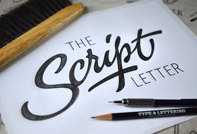 calligraphy handwriting script letter design