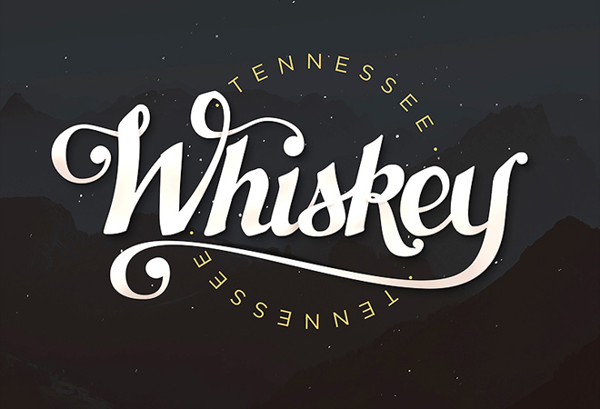 tennessee whiskey hand lettering writing text