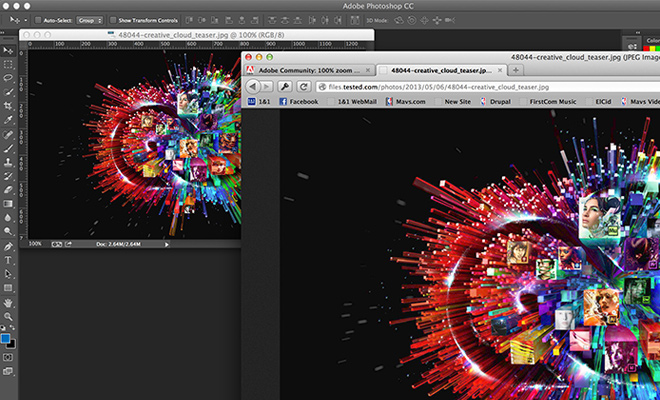 photoshop cs6 retina display resized images