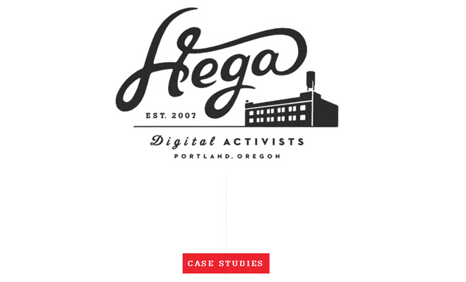 hega tv portfolio simple clean
