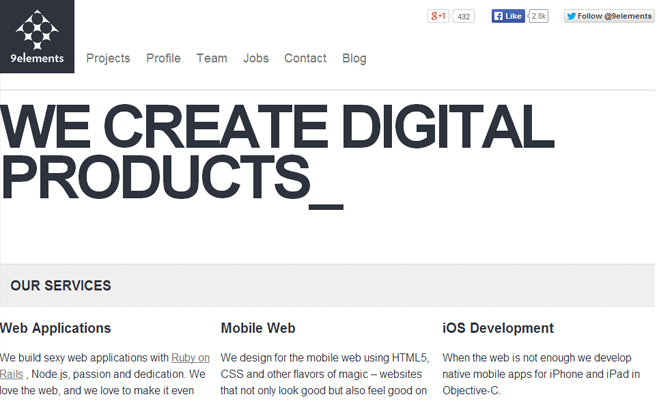 9elements rails developer website layout responsive