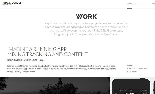 romain dorget ux designer portfolio website