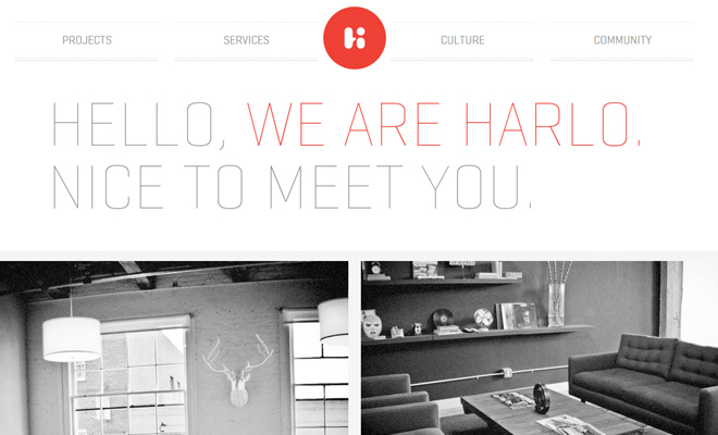 harlo creative white clean portfolio web design