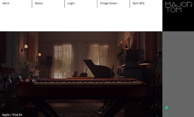 major tom london design portfolio website