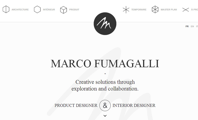 marco fumagalli design portfolio website layout