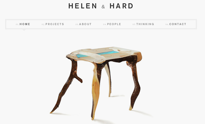 helen and hard white portfolio design inspiration