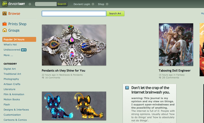 deviantart social network designers artists