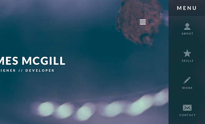 clean personal portfolio james mcgill