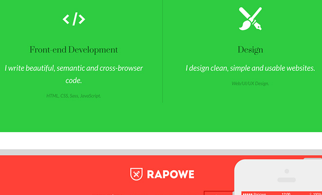 karol krakowiak designer developer animated portfolio website