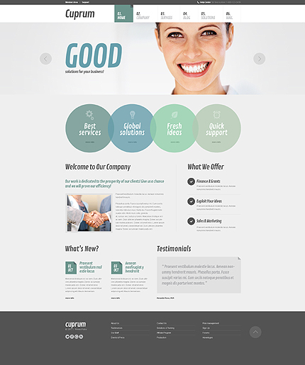 Outsourcing Agency Joomla Template