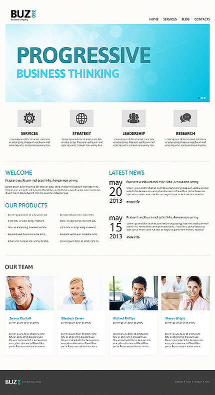 Accounting Website Responsive Joomla Template
