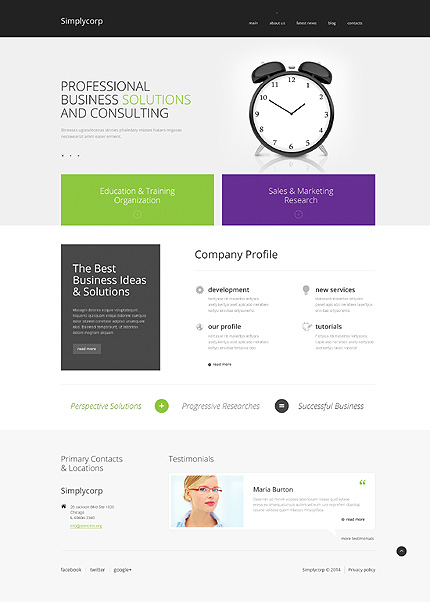 Business Research Organization WordPress Theme