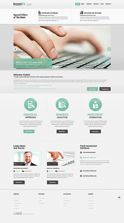 Investment Company Responsive Joomla Template