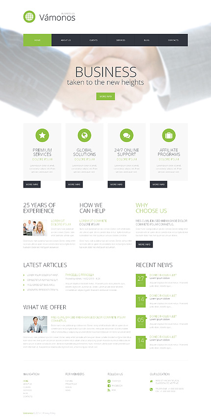 Doing Business WordPress Theme
