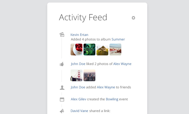 freebie psd activity feed ui