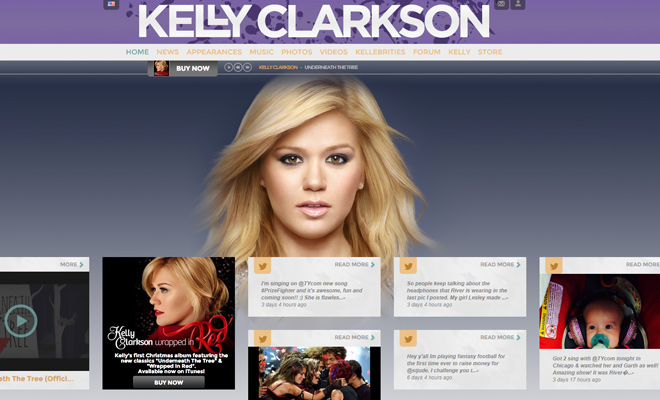 kelly clarkson pop singer music website