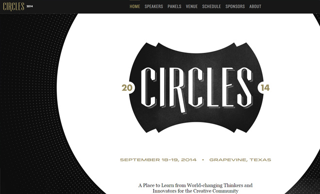 circles creative conference website homepage