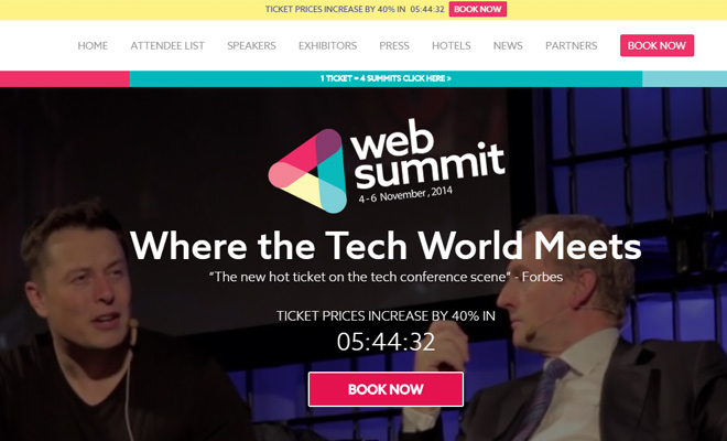 web summit tech conference website 2014
