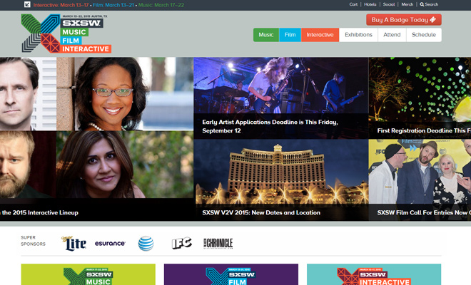 sxsw south by southwest 2015 homepage conference