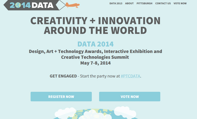 data 2014 conference design art technology awards website