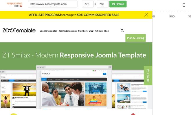 responsive test website webapp dynamic