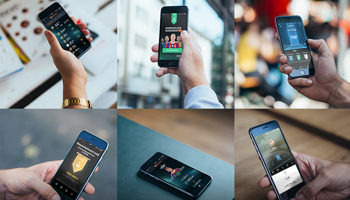 6 iphone6 mockups psd freebie