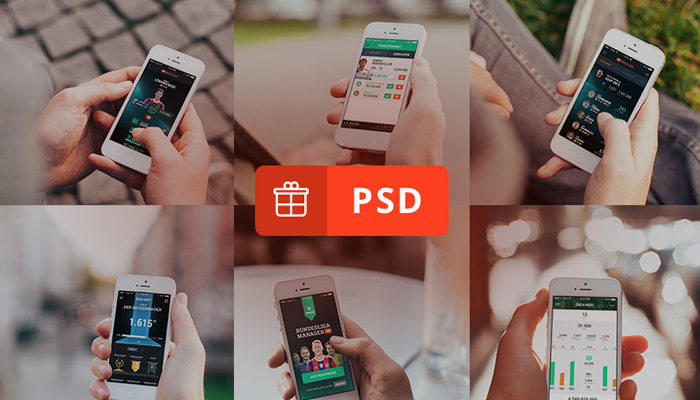 iphone5 mockups psd freebie photorealistic