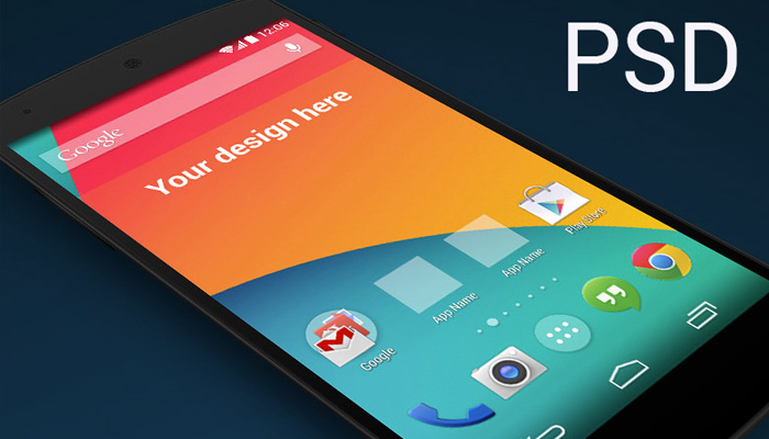 lg smartphone nexus5 psd mockup