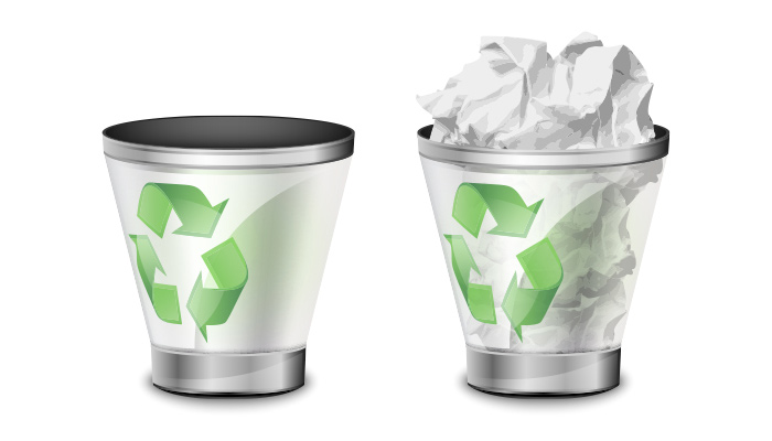 trash bin icons illustrator vector
