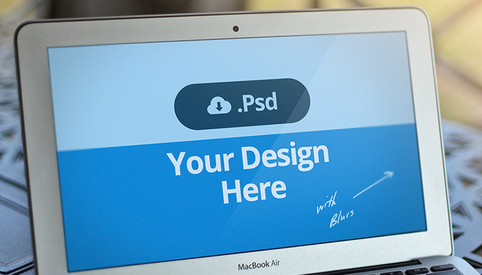 macbook air psd freebie device mockup template