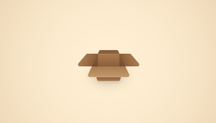 open cardboard box icon