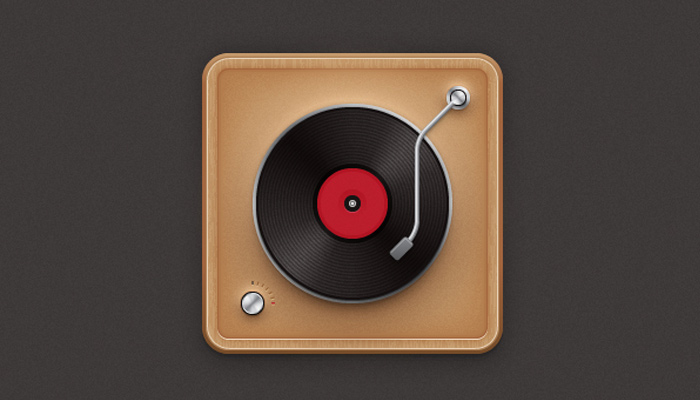 vinyl record player icon illustrator
