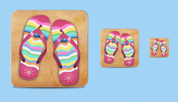 flip flop icon illustrator tutorial