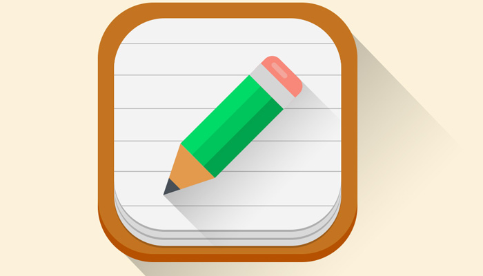 flat pencil paper app icon vector ios7