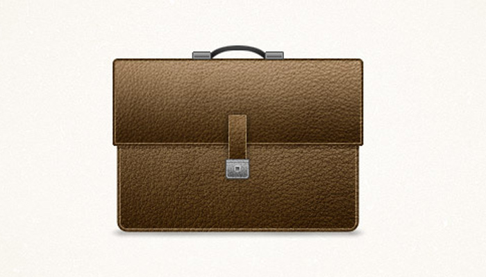 detailed briefcase icon design tutorial