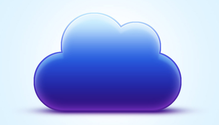 vibrant blue cloud icon photoshop tutorial