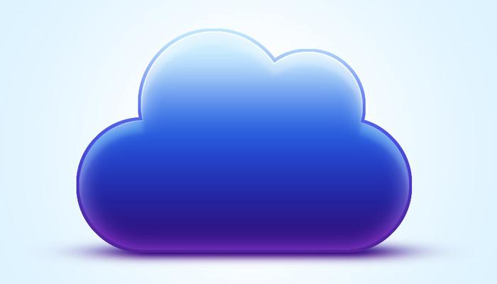 vibrant blue cloud icon photoshop tutorial