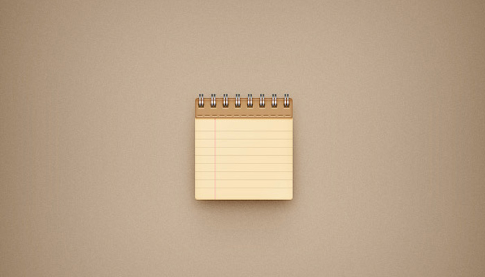 leather texture notepad yellow paper icon