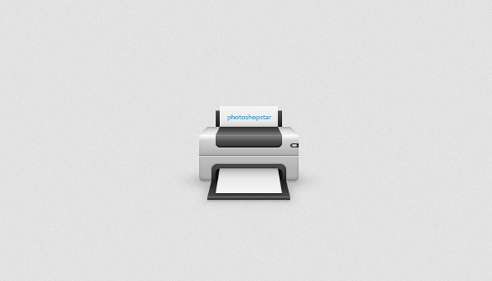printer device icon photoshop tutorial