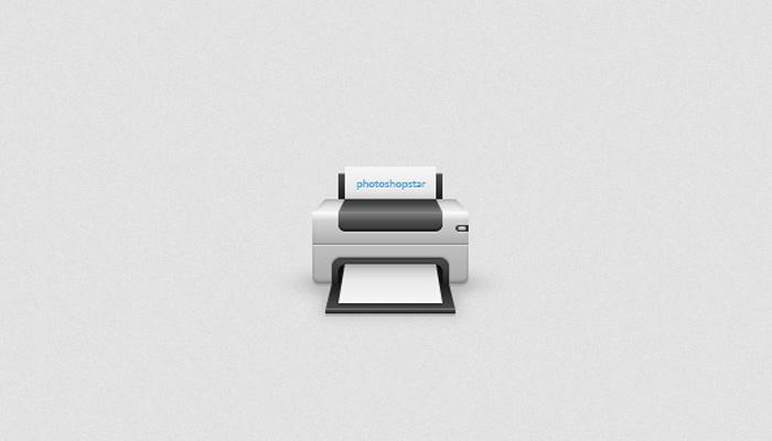 printer device icon photoshop tutorial