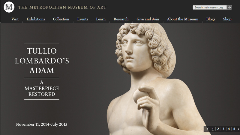 metropolitan museum of art website layout