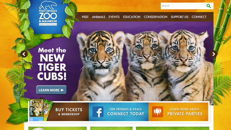 point defiance zoo website clean texture