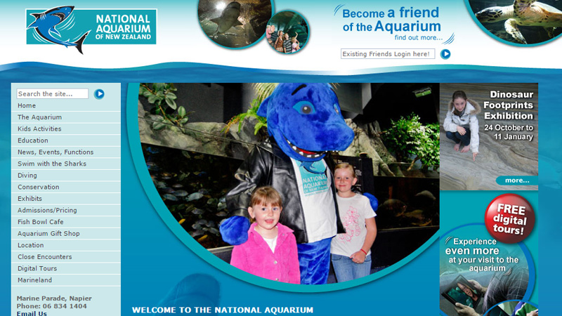 nz new zealand national aquarium website