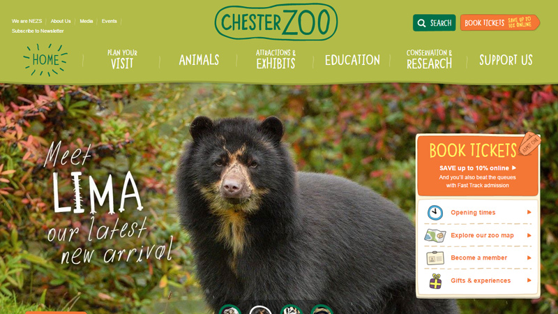 chester zoo website green nature