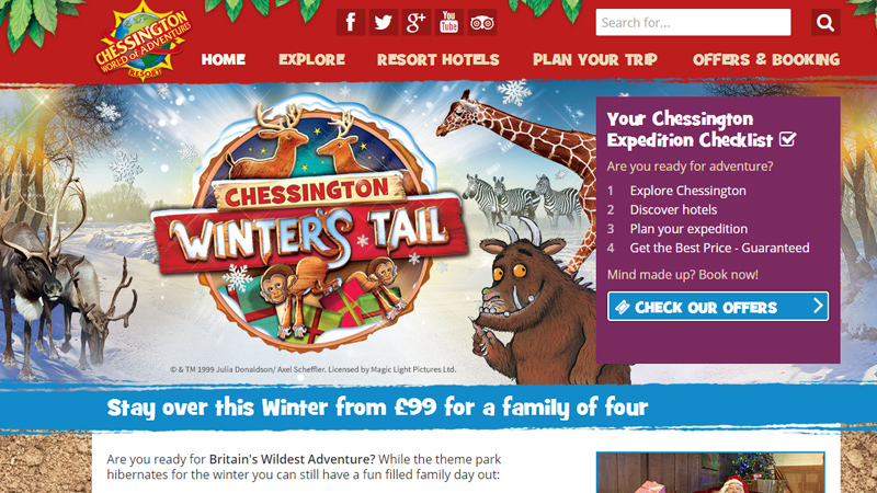 chessington world of adventure website