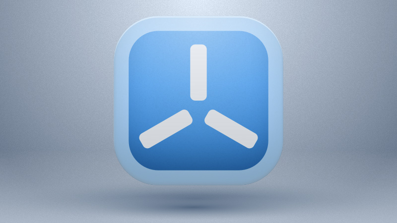 flux blue icon presentation sketch freebie
