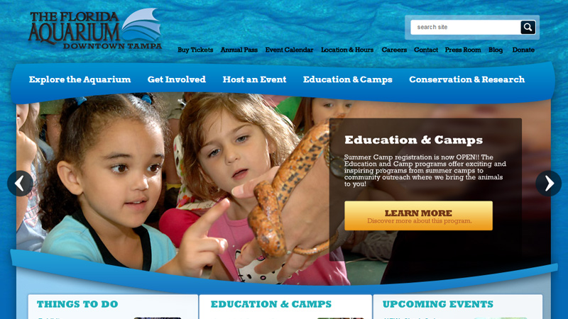 the blue florida aquarium website